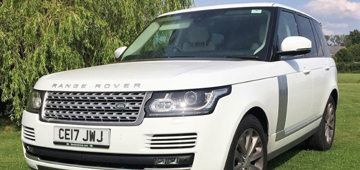 Range Rover Vogue on grass for display