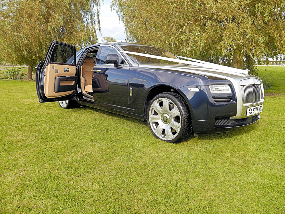 Rolls Royce Ghost with Sash for Wedding