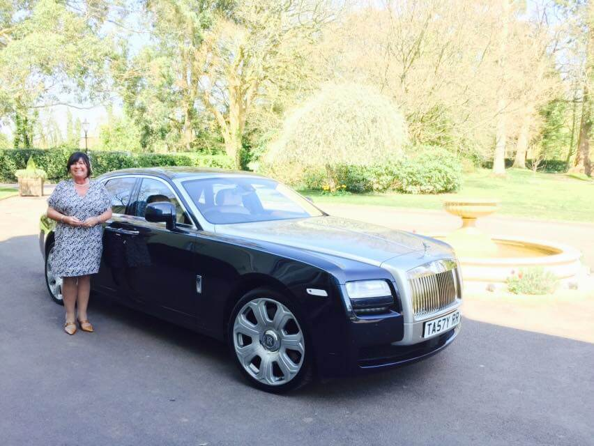 Executive Rolls Royce Hire Car in driveway