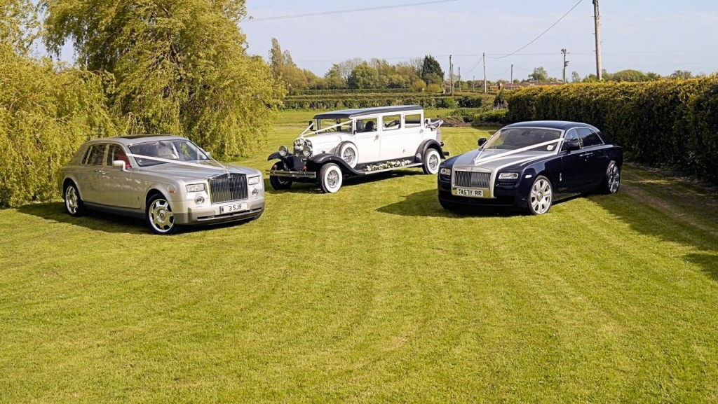 3 wedding cars for hire